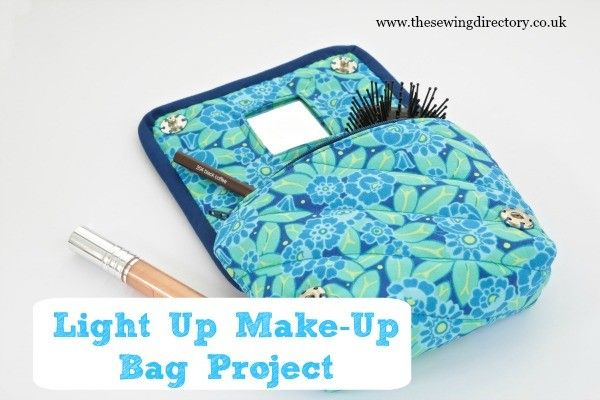 Sew a quilted make up bag with a tiny light