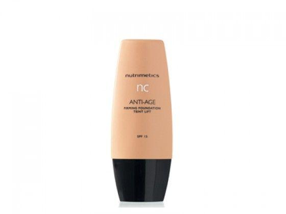 ▪️NC ANTI-AGE FIRMING FOUNDATION SPF 15                                                                                       Voor de normale huid. Geeft een mooie dekking en een volledige anti- ageing behandeling. Deze foundation is gemakkelijk aan te brengen en bedekt leeftijdgerelateerde onzuiverheden. Verrijkt met erwt extract en peptides ter vervaging van pigmentatie en versteviging van de huid. Je huid wordt tevens beschermd met SPF15.