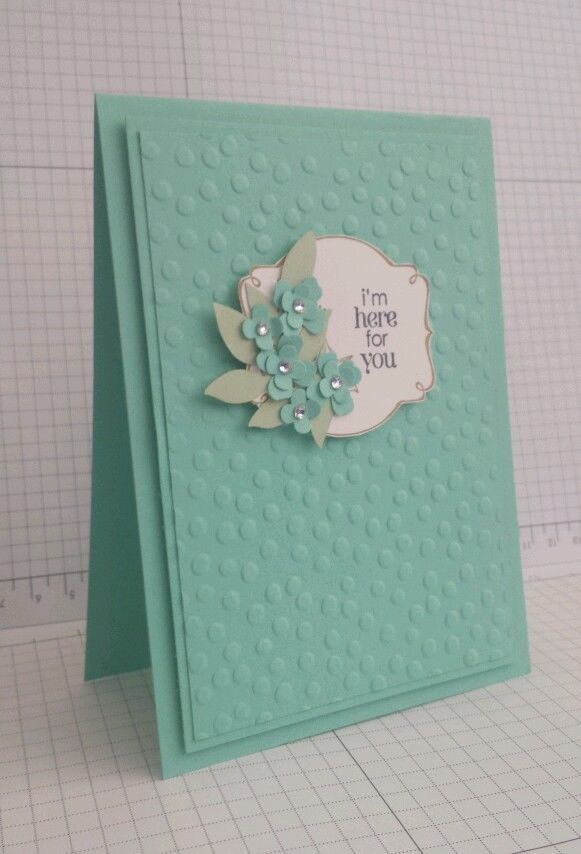 handmade card, im here for you, get well card or sympathy card, using stampin up in Crafts, Handcrafted Arts, Cards | eBay