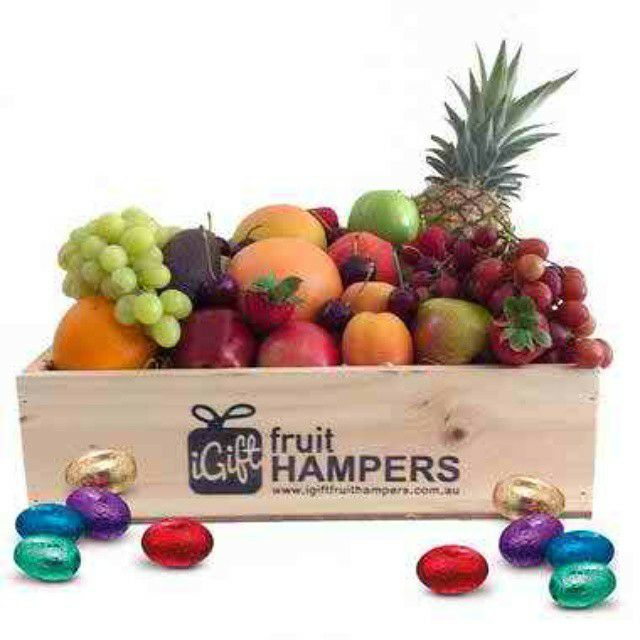 12 best easter images on pinterest easter hampers fruit box and medium mixed fruit hampers fruit hamper gifts delivered in a medium size wooden box negle Gallery