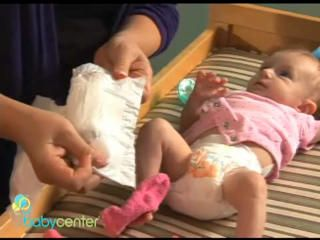 A nurse-midwife demonstrates the ins and outs of diaper changing, with special tips for boys and girls.