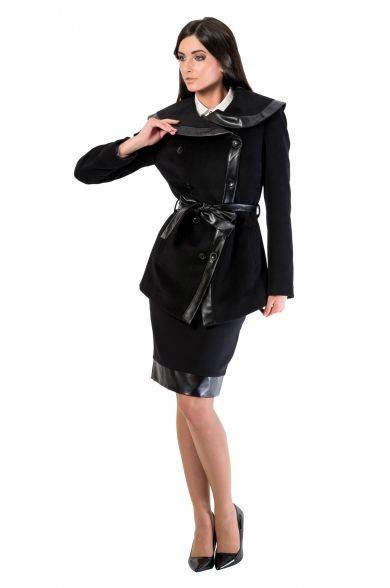 Jacheta cu garnituri din piele