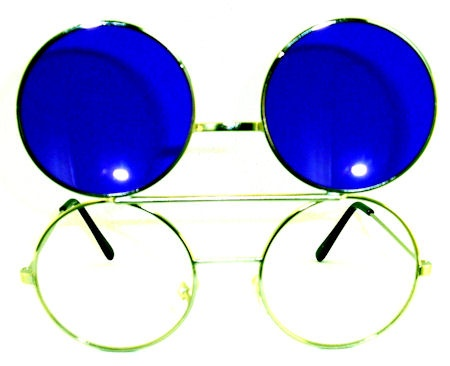 Newport Tinted Round Flip Up Glasses - 408A Purple