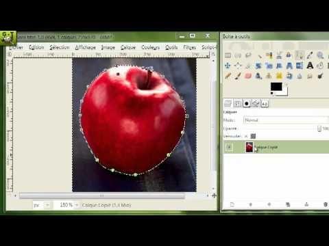 (13) [ GIMP ] Tuto n° 10 : Découpage d'image , et présentation de l'outil Chemin - YouTube