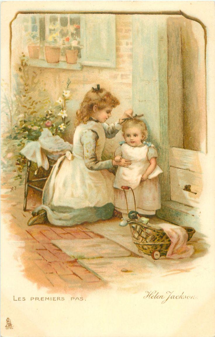 Коллекция картинок: Старинные открытки с детьми от HELEN JACKSON