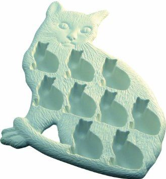 Cat shaped ice cubes.
