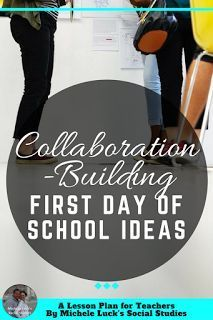 Start off the school year with these easy back to school or first day of school icebreaker ideas for building an effective collaborative classroom climate at the middle or high school level. And they are fun for students, too!  The first one is my favorit