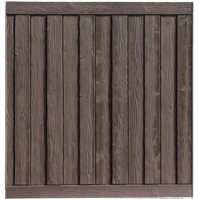 SimTek Ashland 6 ft. H x 6 ft. W Nantucket Gray Composite Fence Panel-WP72X72GRY - The Home Depot