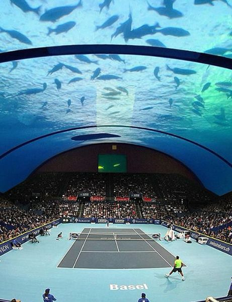 Hereu0027s What The Worldu0027s First Underwater Tennis Court Looks Like