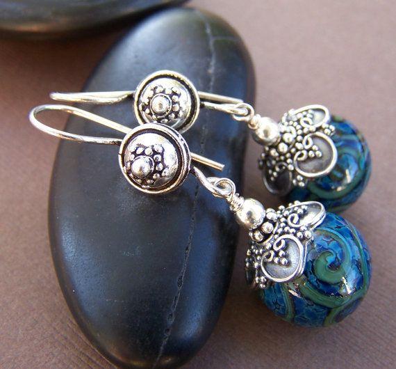Sterling Silver Lampwork Earrings