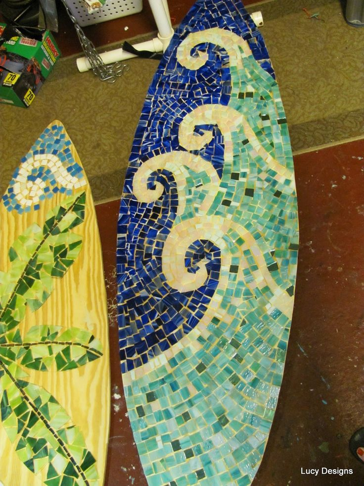 moasic surfboard | Mosaic Surfboards Part 1 - Sea Turtle, Palm Tree and Waves