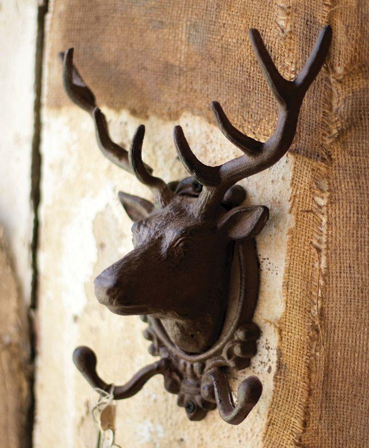 Rustic Iron Elk Coat Rack