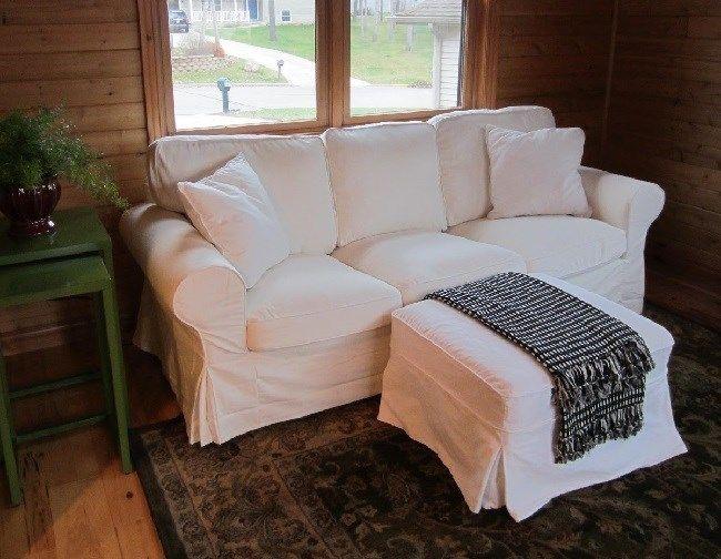 White Twill Slipcover Made For Pottery Barn Pb Basic Sofa