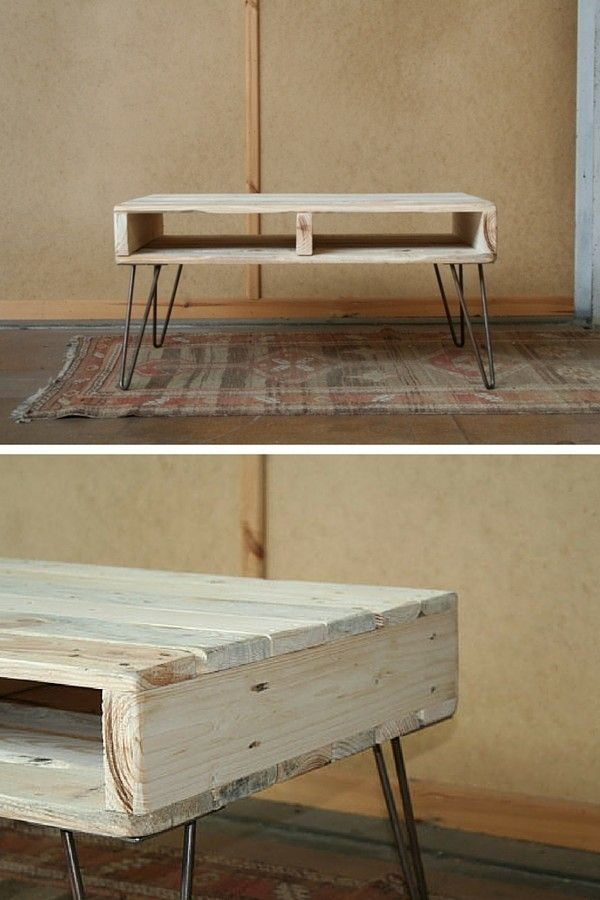 Best 25 palette table ideas on pinterest palette - Table basse palette industrielle ...