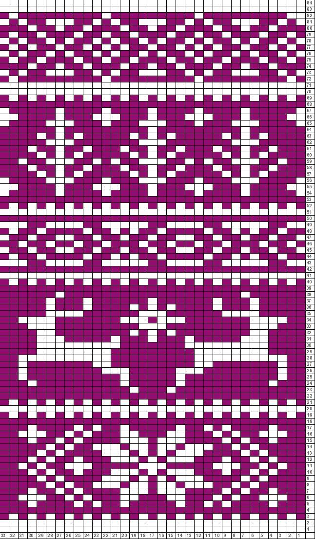Tricksy Knitter Charts: Fair Isle reindeer pattern (63801) (70587)