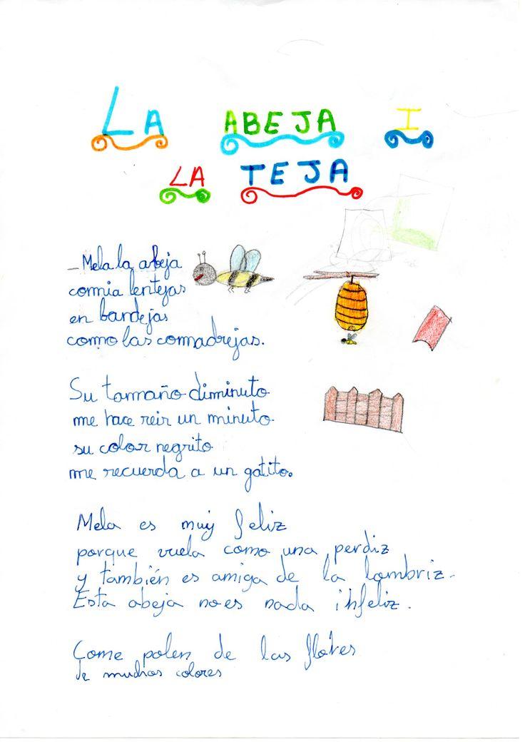 Texto creativo, alumnos de 3º B La abeja y la teja
