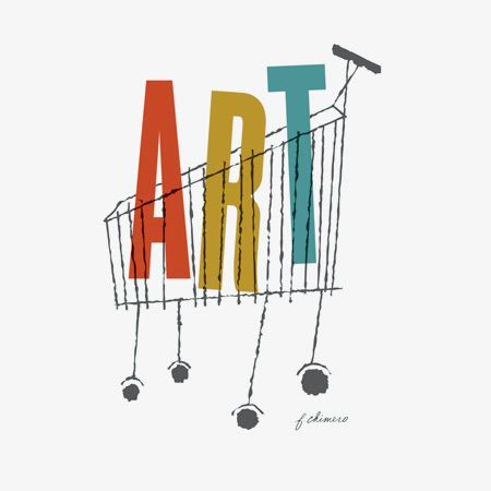 Art Cart by Frank Chimero. like the explicit double significance and use of sans serif font