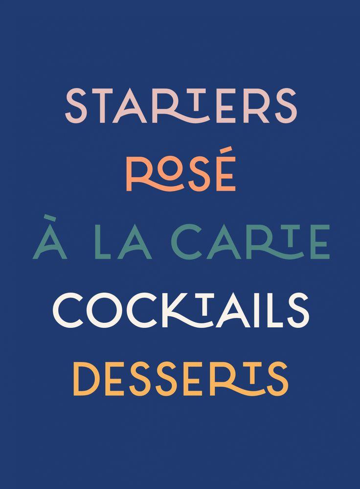 Sardine Restaurant Menu Card Design Typography