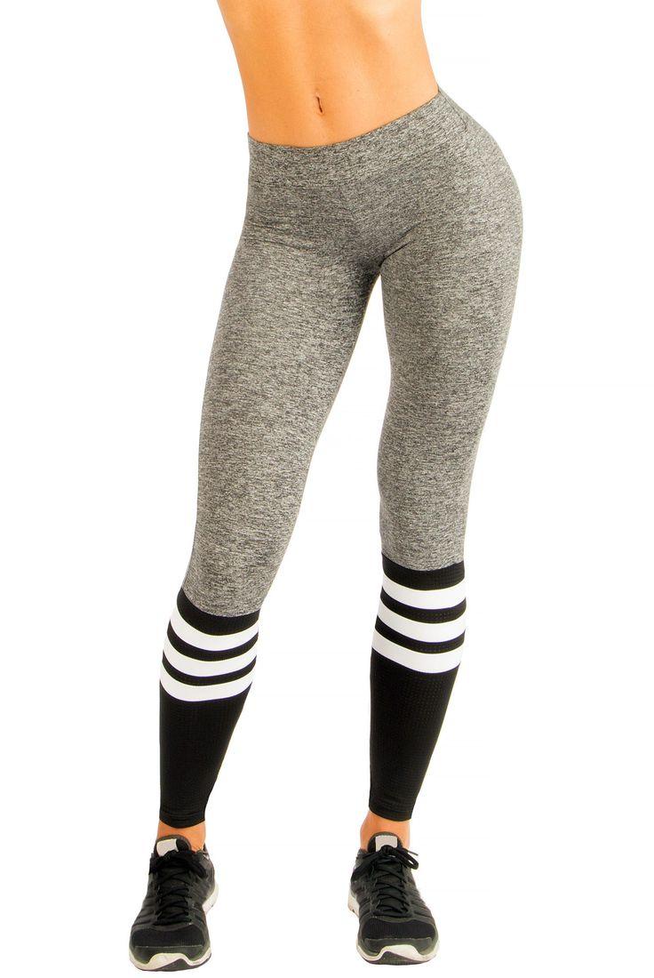 Sock Leggings - Gray / Black