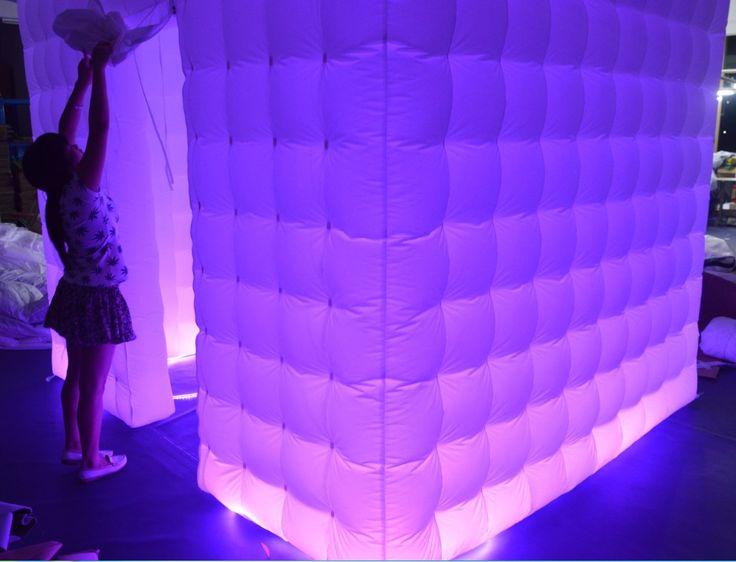 Led booth purple lights