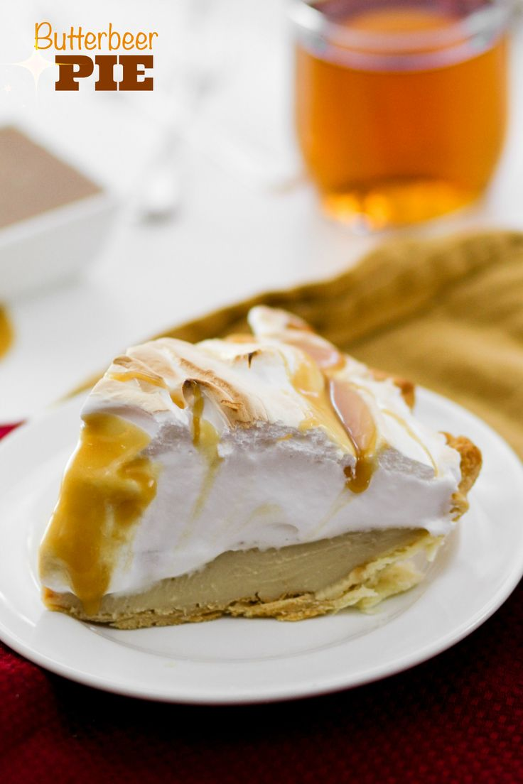 Butterbeer Pie that even Harry Potter would most definitely approve of! Buttery and sweet, this creamy pie tastes just like the popular beverage. ~ Confessions of a Cookbook Queen
