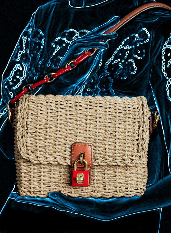 Spring Summer 2014 Accessory Trends Dolce&Gabbana Weaved Rope Dolce Bag | cynthia reccord