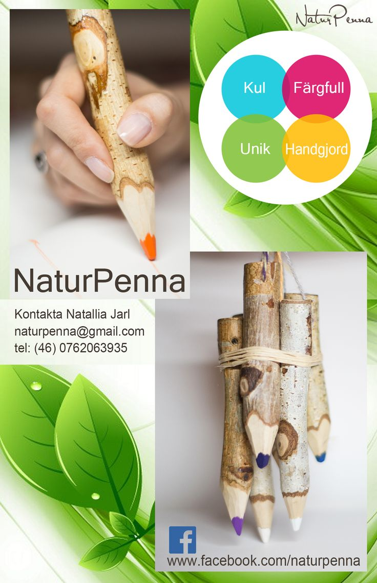 NaturPenna: Kul. Färgfull. Unik. Handgjord. Created by Nature & Crafted by People.  #naturpenna #färgfull #kul #unik #handgjord