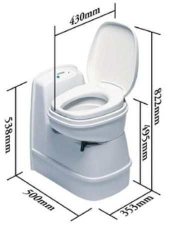 Thetford C200CS Cassette Toilet for caravans and motorhomes UK