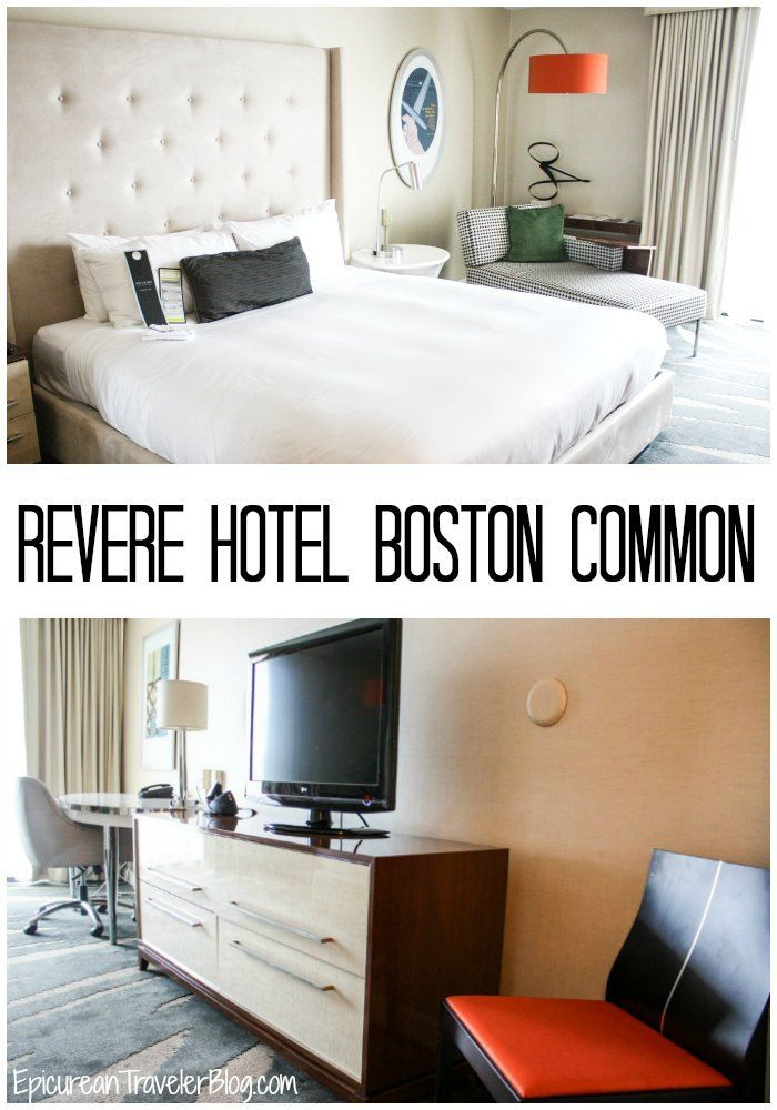 Hotel Review: Revere Hotel Boston Common is a chic 4-star boutique hotel in downtown Boston.   EpicureanTravelerBlog.com