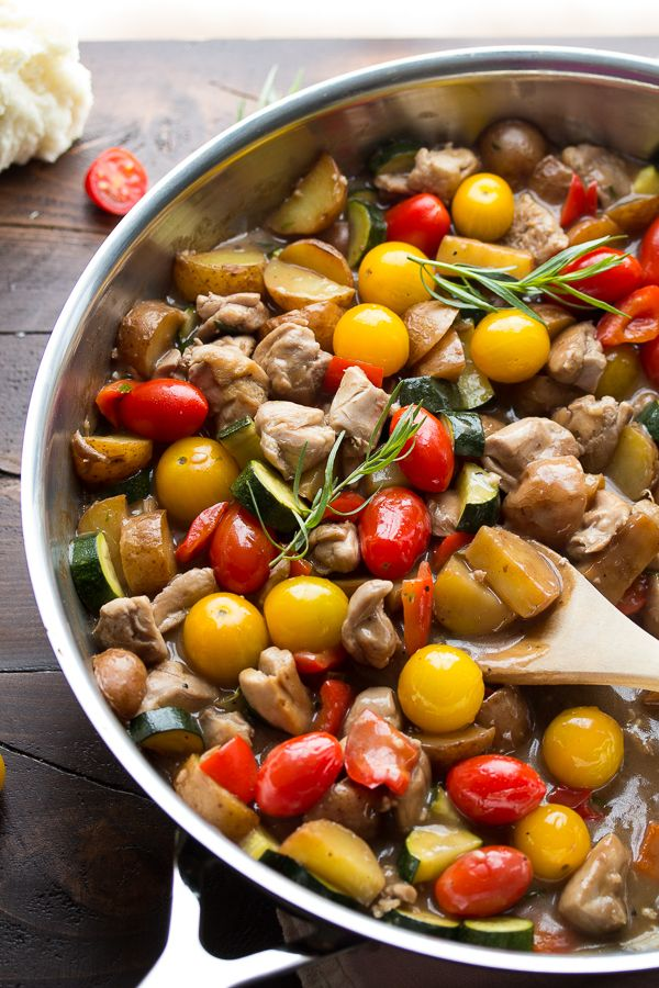 silver jewellery online Balsamic Tarragon Chicken Skillet by sweetpeasandsaffron  Chicken  Tomatoes  Zucchini  Pootatoes  One_Pan  Healthy  Easy