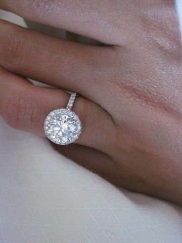 Not usually a fan of round engagement rings but this is stunning!