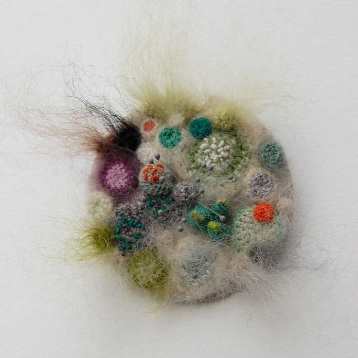 Crocheted and Embroidered Bacteria Grow in Elin Thomas's Fiber Art Petri Dishes