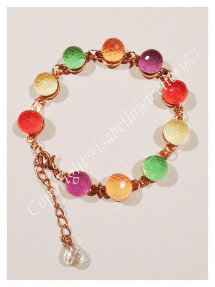 I'm selling Rainbow candy coloured faceted beaded bracelet - A$21.99 #onselz
