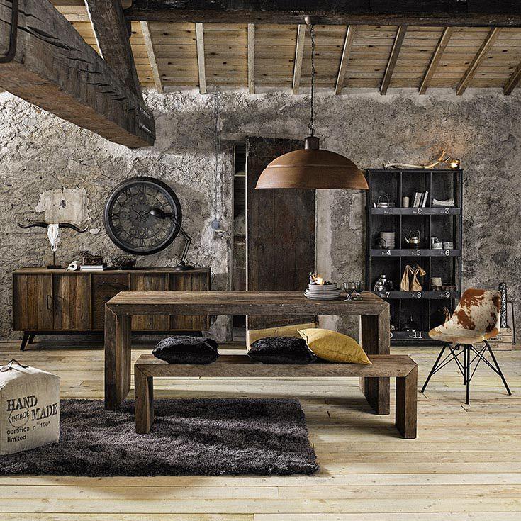 les 199 meilleures images du tableau salon salle manger sur pinterest maison du monde. Black Bedroom Furniture Sets. Home Design Ideas