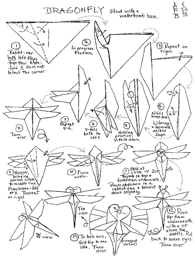 Origami Insects Instructions Oregami Pinterest Origami