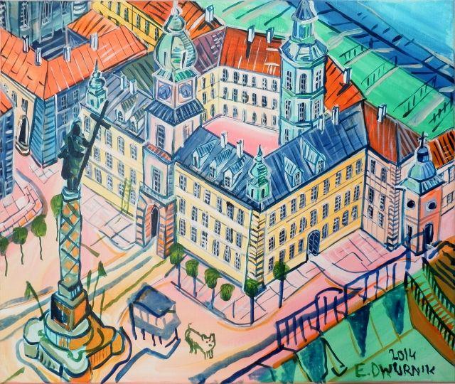 ArtGalery ° personalArt.pl tytuł: Plac Zamkowy autor: Edward Dwurnik http://personalart.pl/Edward-Dwurnik