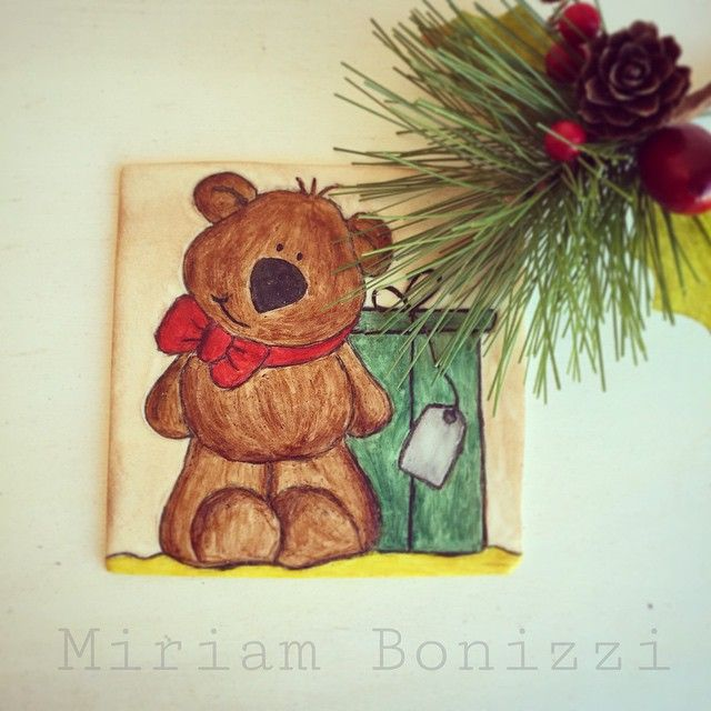 #cookie #cookies #painting #pittura #biscotti #biscotto #dolce #dolci #decorated #decorazione #decoratedcookies #happy #hobby #xmas #natale #orso #bear #regalo #gift #present