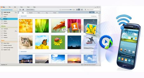 SAMSUNG KIES, program to sync media between Samsung devices and computers.