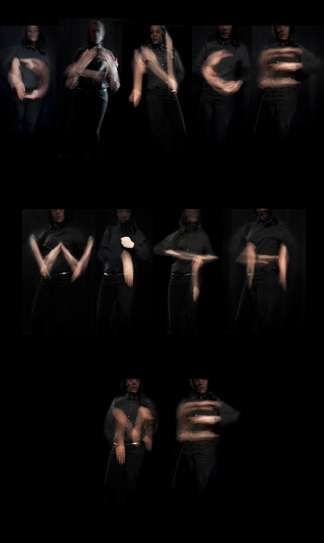 The 'Dance with Me' Photography Series Uses Long-Exposure #typography #typographyproducts trendhunter.com