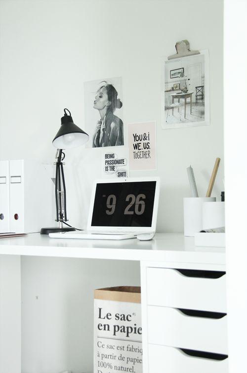 Via Elisabeth Heier   Home Office   White   Fliqio Screensaver