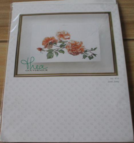 Just-Joey-Rose-cross-stitch-NIP-RARE-kit-by-Thea-Gouverneur