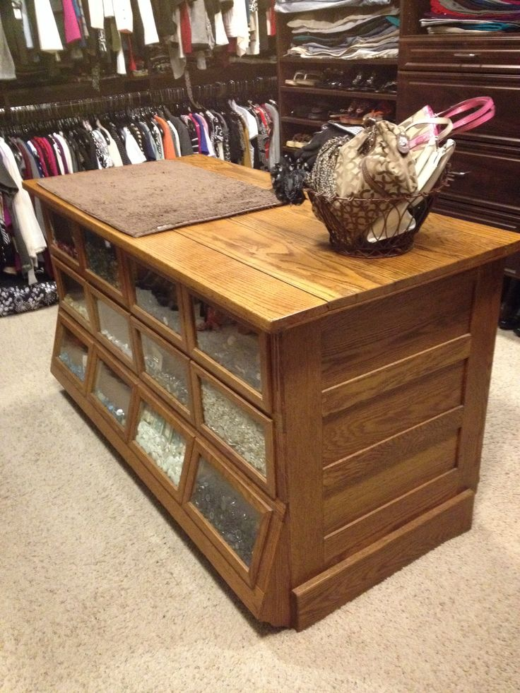 Antique Seed Counter In Master Closet Great For Storage