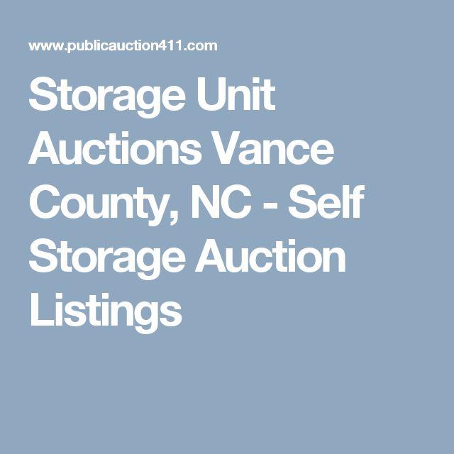 Storage Unit Auctions Vance County, NC - Self Storage Auction Listings