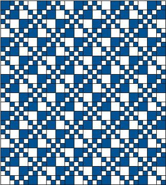 One possible layout for pairs of double four-patch blocks.