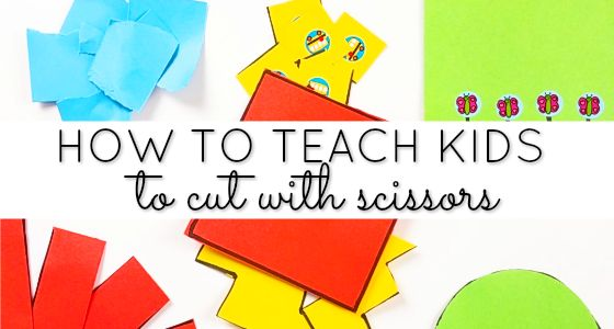 How to teach your kids to cut with scissors in preschool, pre-k, or kindergarten. The proper sequence of cutting skills to help kids be successful.