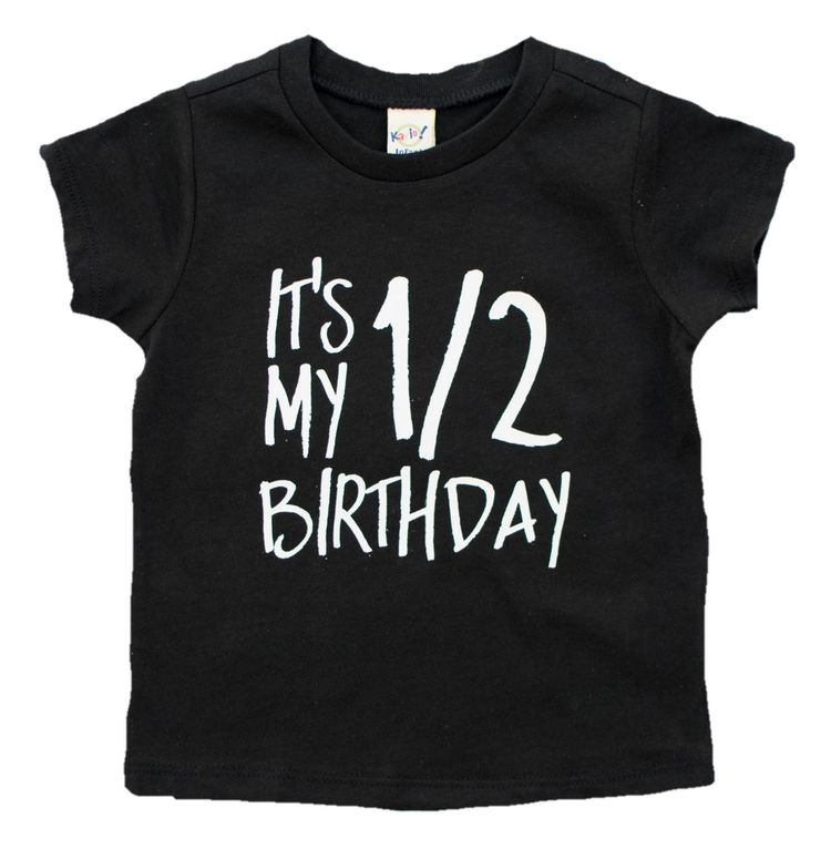Half Birthday Shirt Boy Outfit One Of 1 2 Tee Halfway To