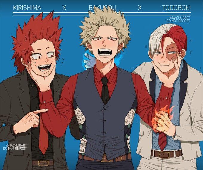 Kirishima, Bakugou and Todoroki | My he