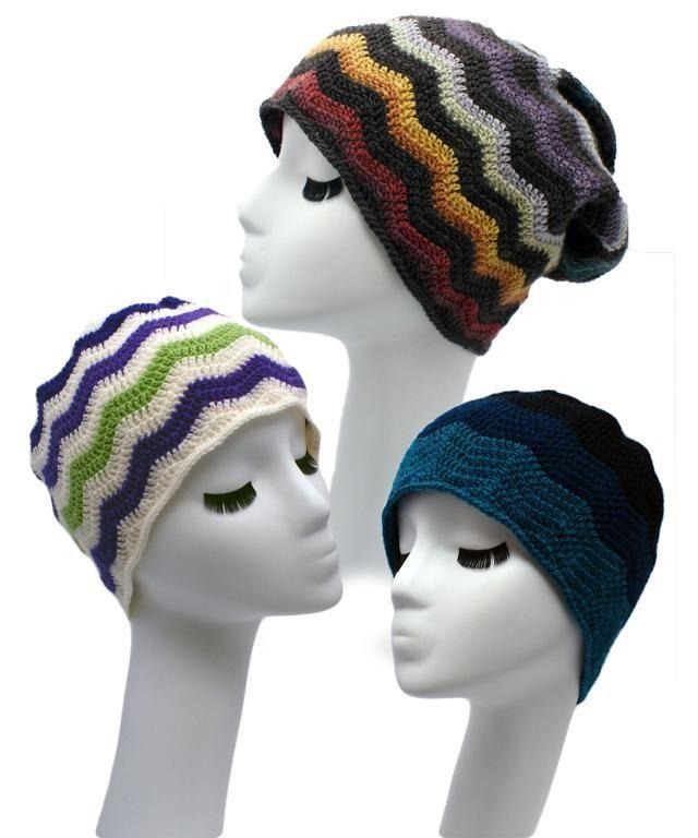 Chevron Beanies 2 Ways Crochet