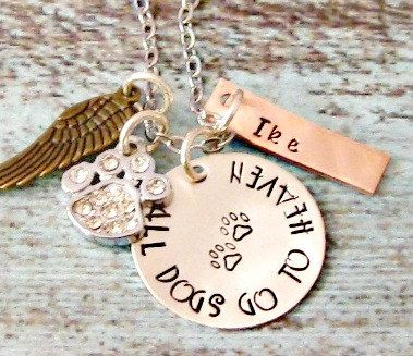 dog remembrance engraved necklace rainbow bridge all do