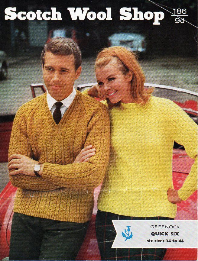 e1d9e0075e355 womens   mens sweater knitting pattern pdf ladies cable jumper crew or v  neck Vintage 60s 34-44 inch aran worsted 10ply Instant Download by ...